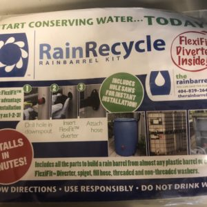 instruction flyer for rain barrel kit